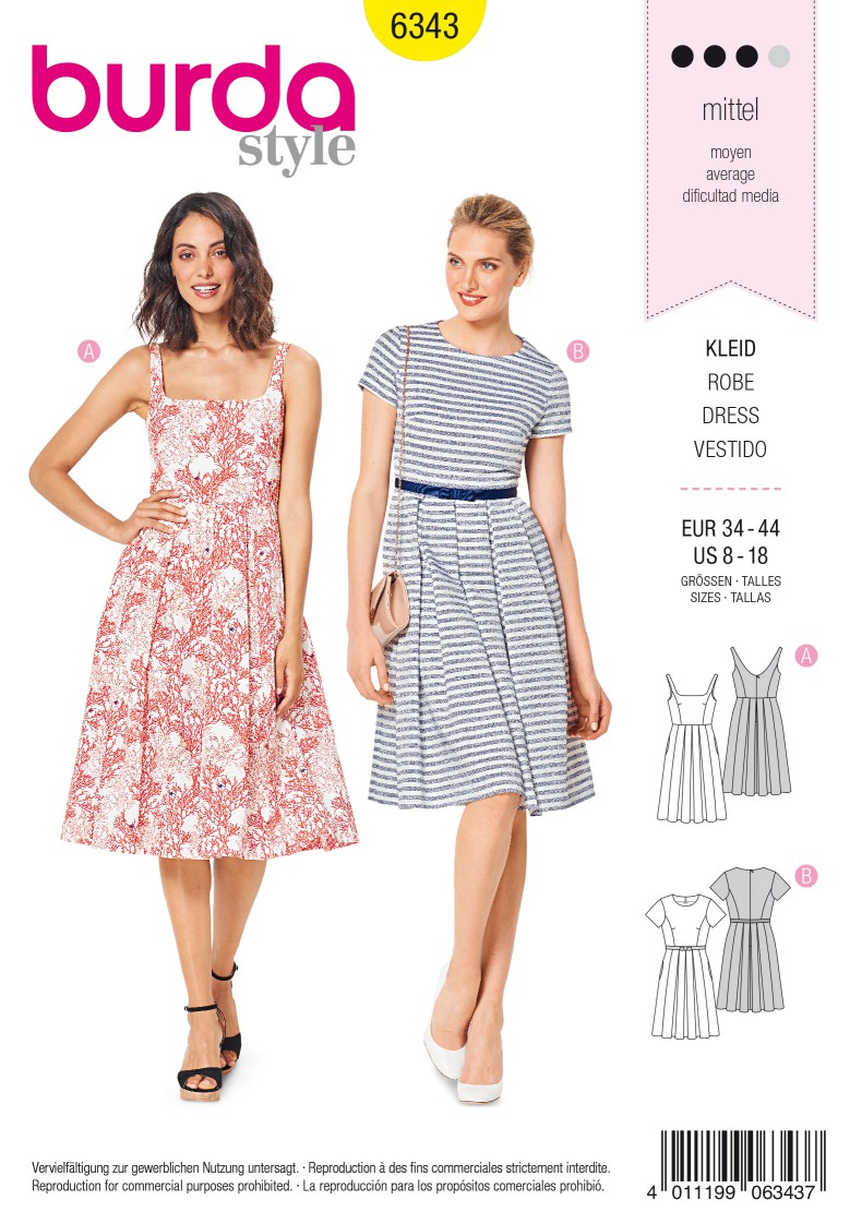 Burda Style Pattern 6343 Misses' pinafore dress