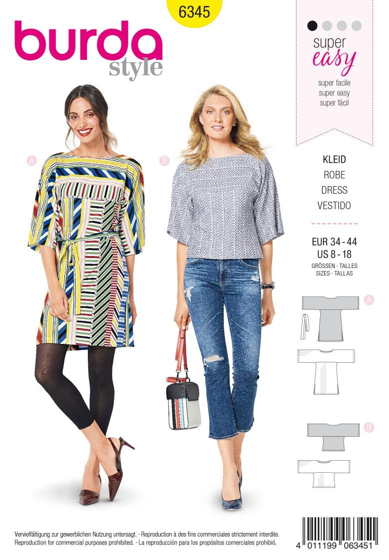 Burda Style Pattern 6345 Misses' sportswear