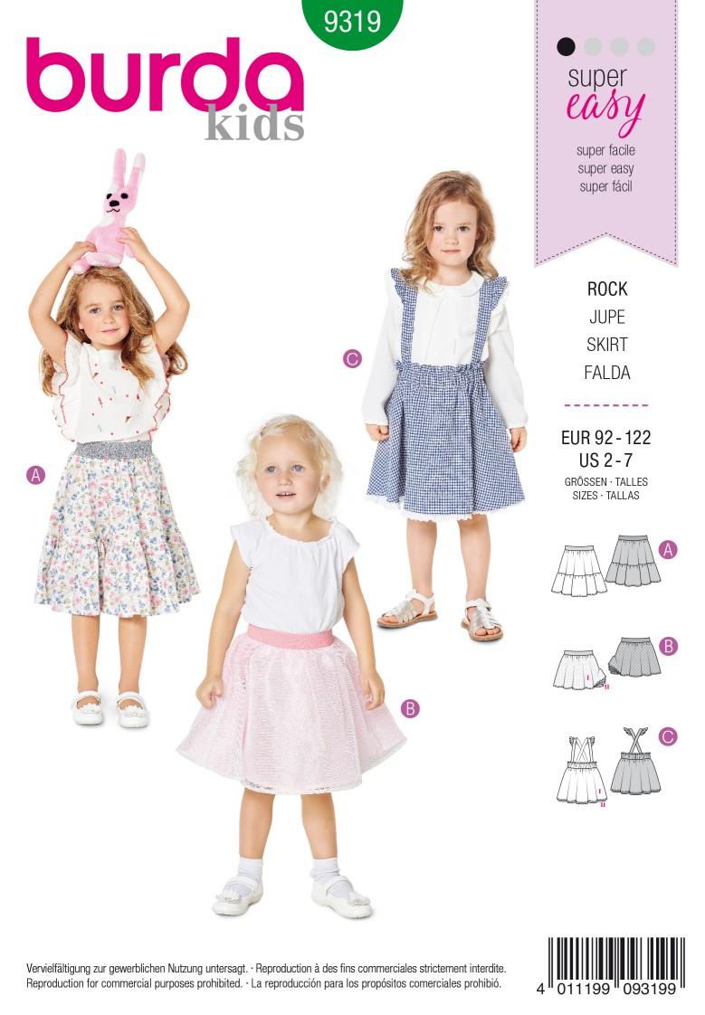 Burda Style Pattern 9319 Child's pinafore skirt