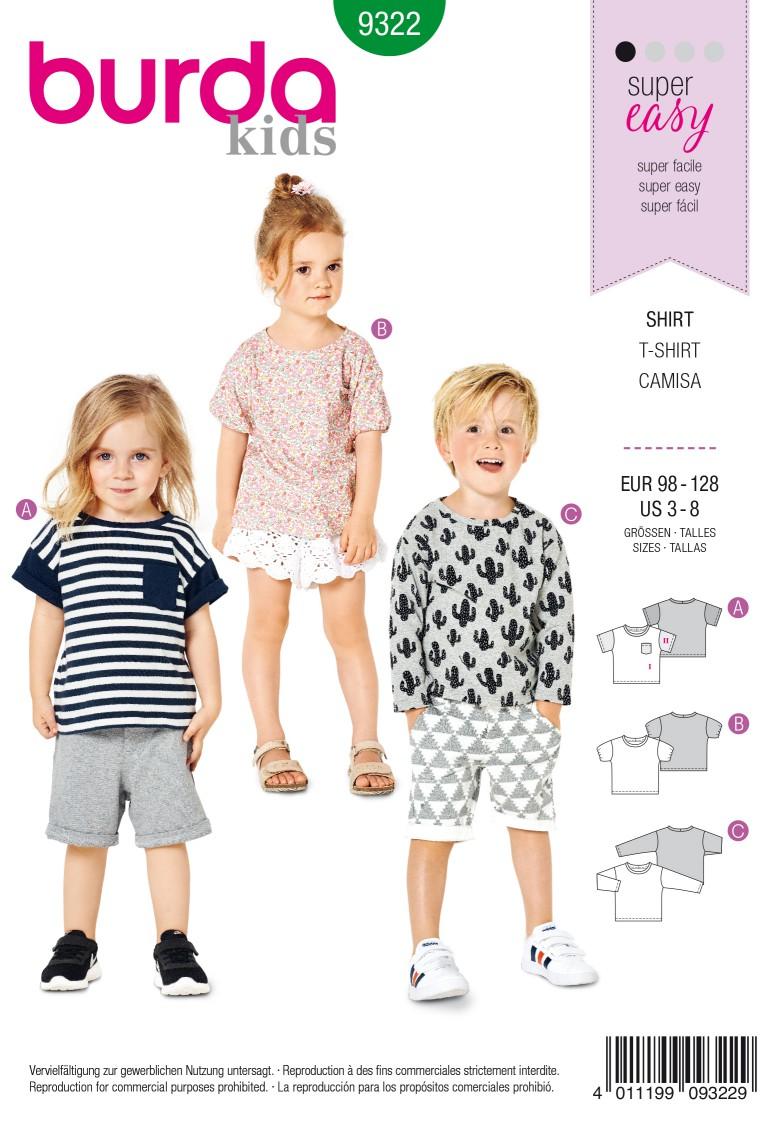 Burda Style Pattern 9322 Child's top