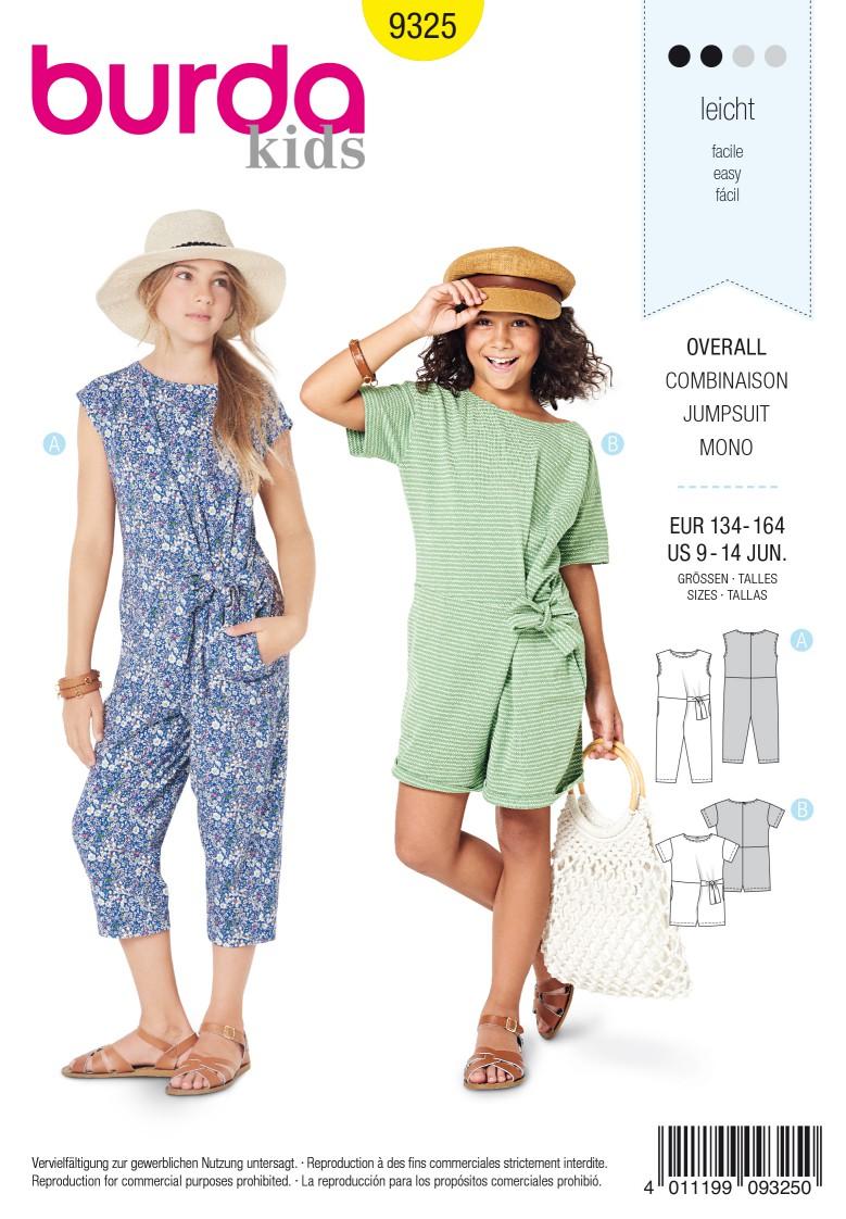 Burda Style Pattern 9325 Child's overalls