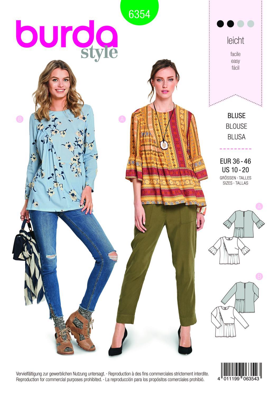 Burda Style Pattern B6354 Women's Blouse