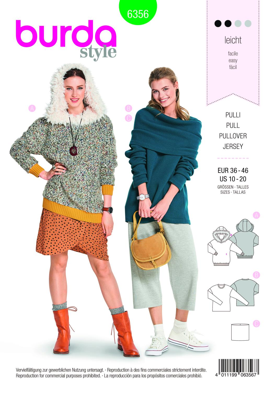 Burda Style Pattern B6356 Women's Pullover