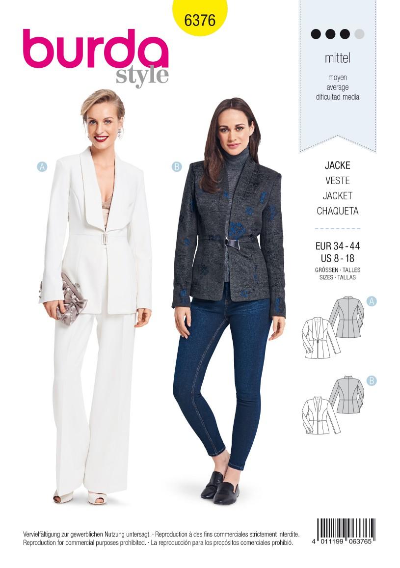 Burda Style Pattern B6376 Women's Blazers