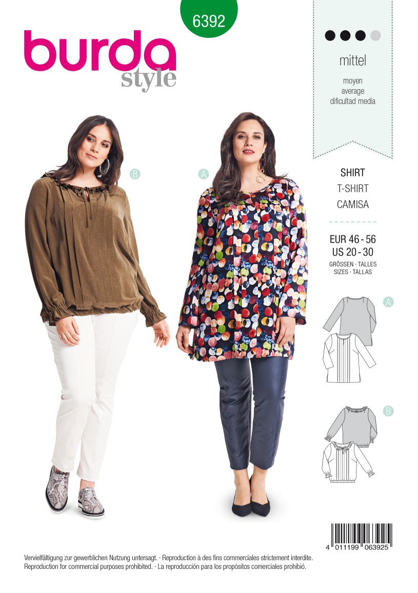 Burda Style Pattern B6392 Women's Blouse