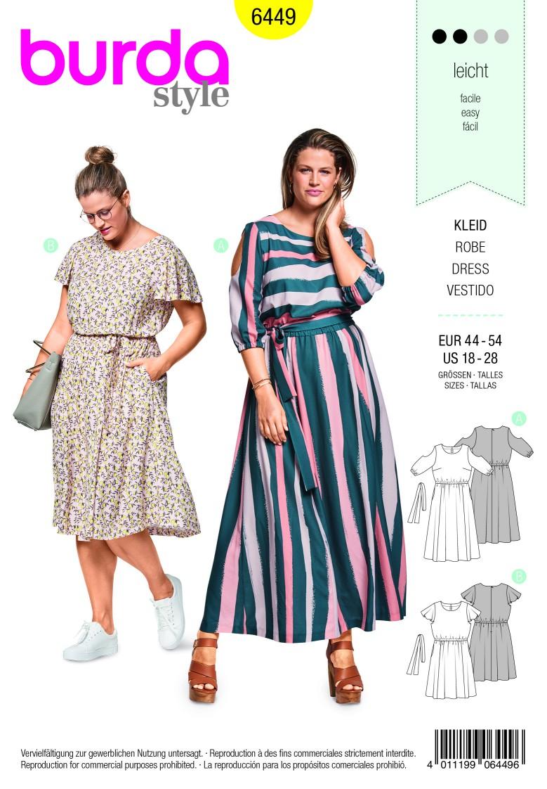 Burda Style Pattern B6449 Women's Summer Dress