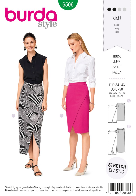 Burda Style Pattern B6506 Women's' Waistband Skirt