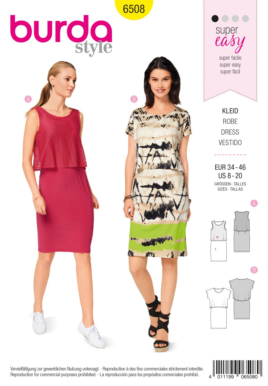 Burda Style Pattern B6508 Women's' Dress and Top