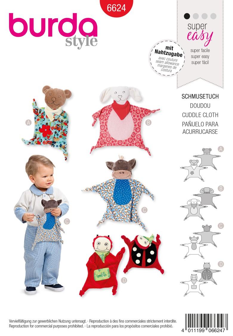 Burda Style Pattern 6624 Cuddle Cloth
