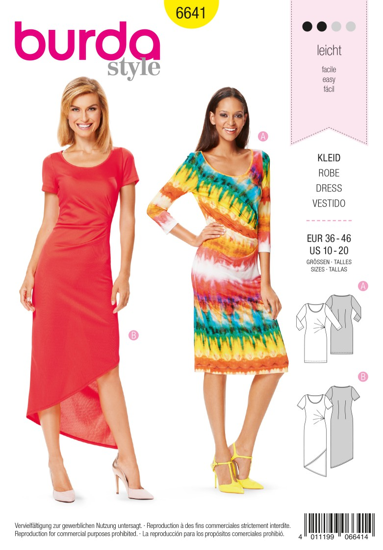 Burda B6641 Women's Dress Sewing Pattern