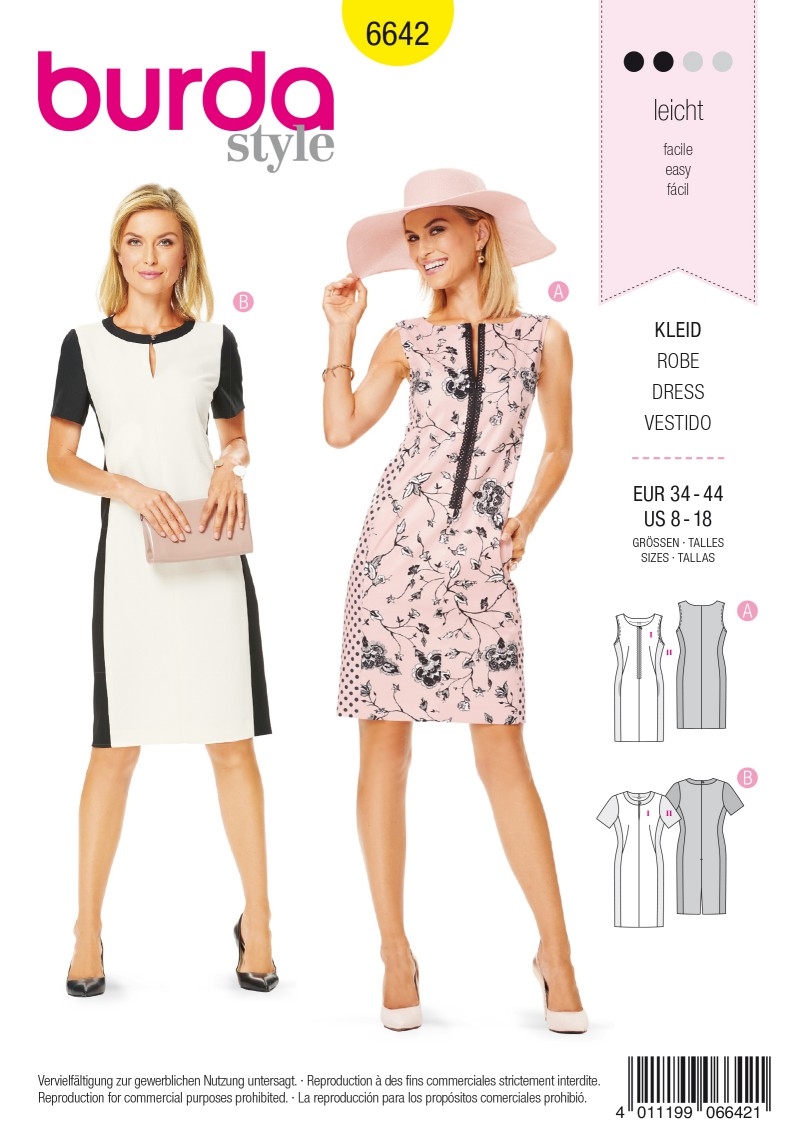 Burda B6642 Women's Dress Sewing Pattern