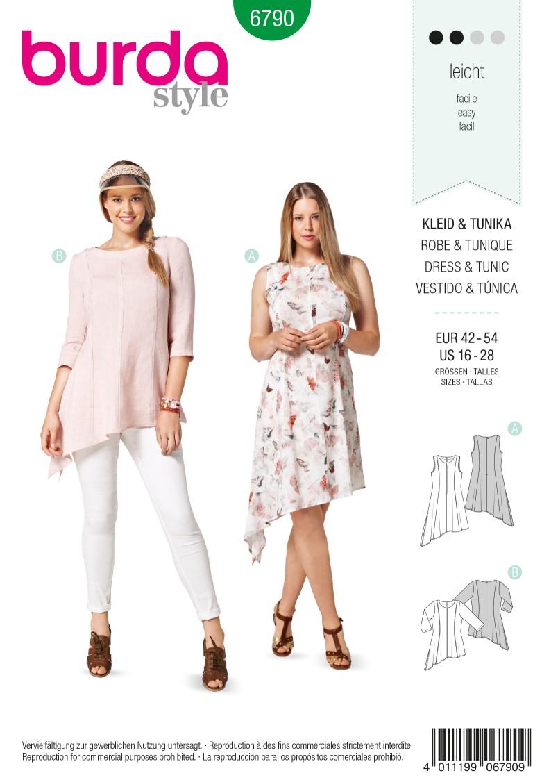 Burda B6790 Plus to size 60 (34) Sewing Pattern