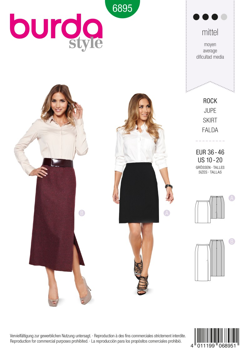 Burda B6895 burda style skirts Sewing Pattern