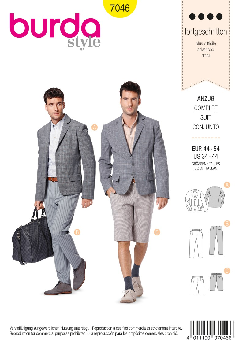Burda Style B7046 Suit Sewing Pattern