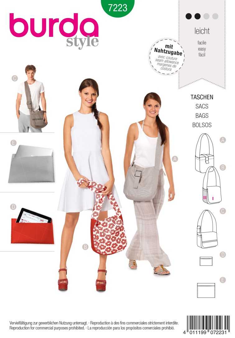 Burda Style B7223 Bag Sewing Pattern