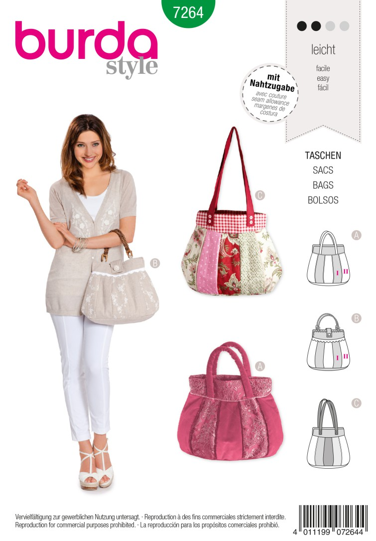 Burda Style B7264 Bag Sewing Pattern