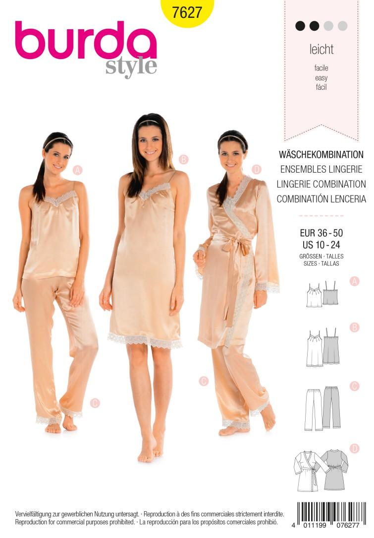 Burda Style B7627 Lingerie Combination Sewing Pattern