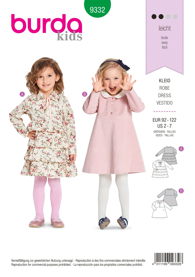 Burda Style Pattern B9332 Child's Dress