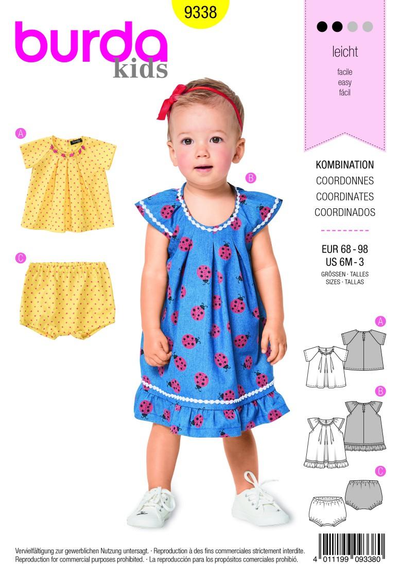 Burda Style Pattern B9338 Toddler's Blouse and Dress