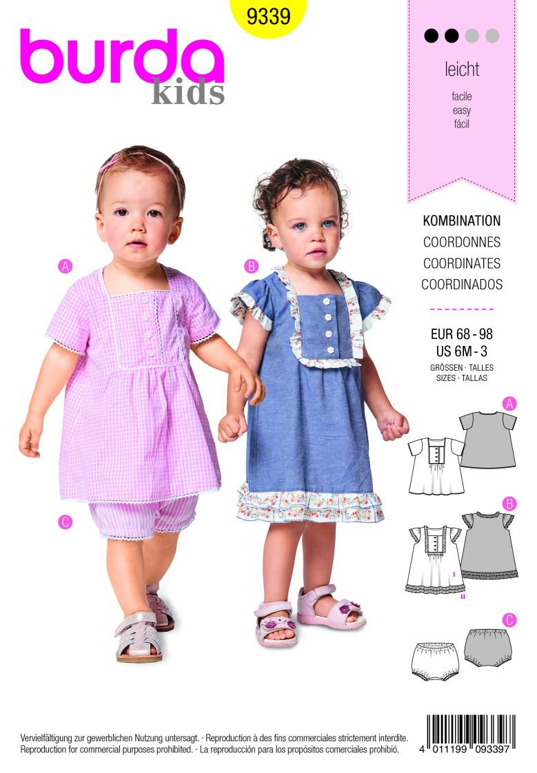 Burda Style Pattern B9339 Toddler's Dress and Panties