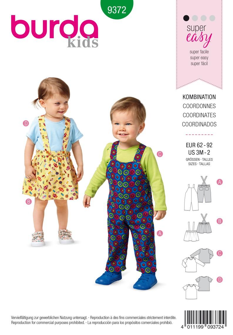 Burda Style Pattern 9372 Coordinates