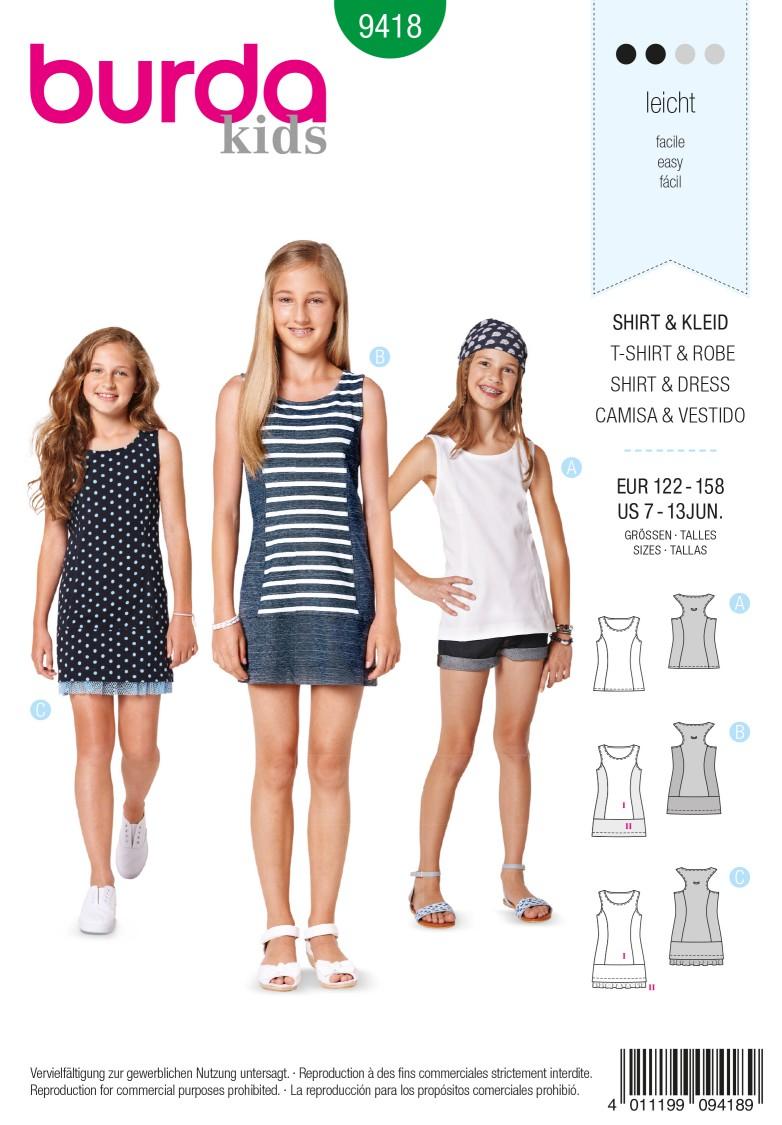 Burda B9418 Children Sewing Pattern