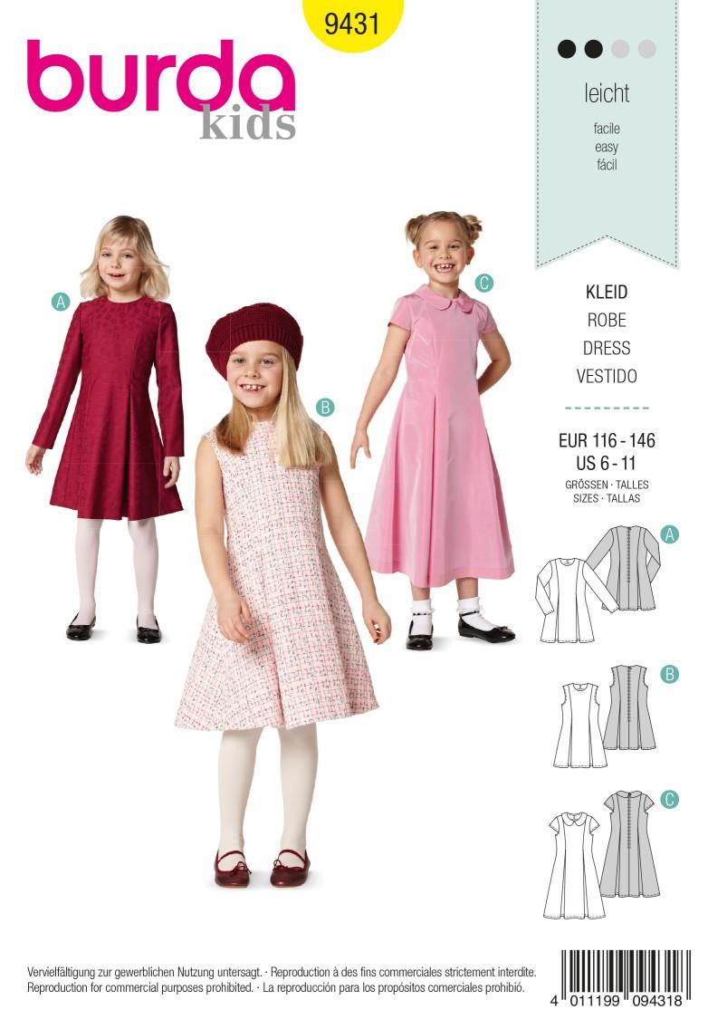 Burda Style B9431 Childrens Sewing Pattern