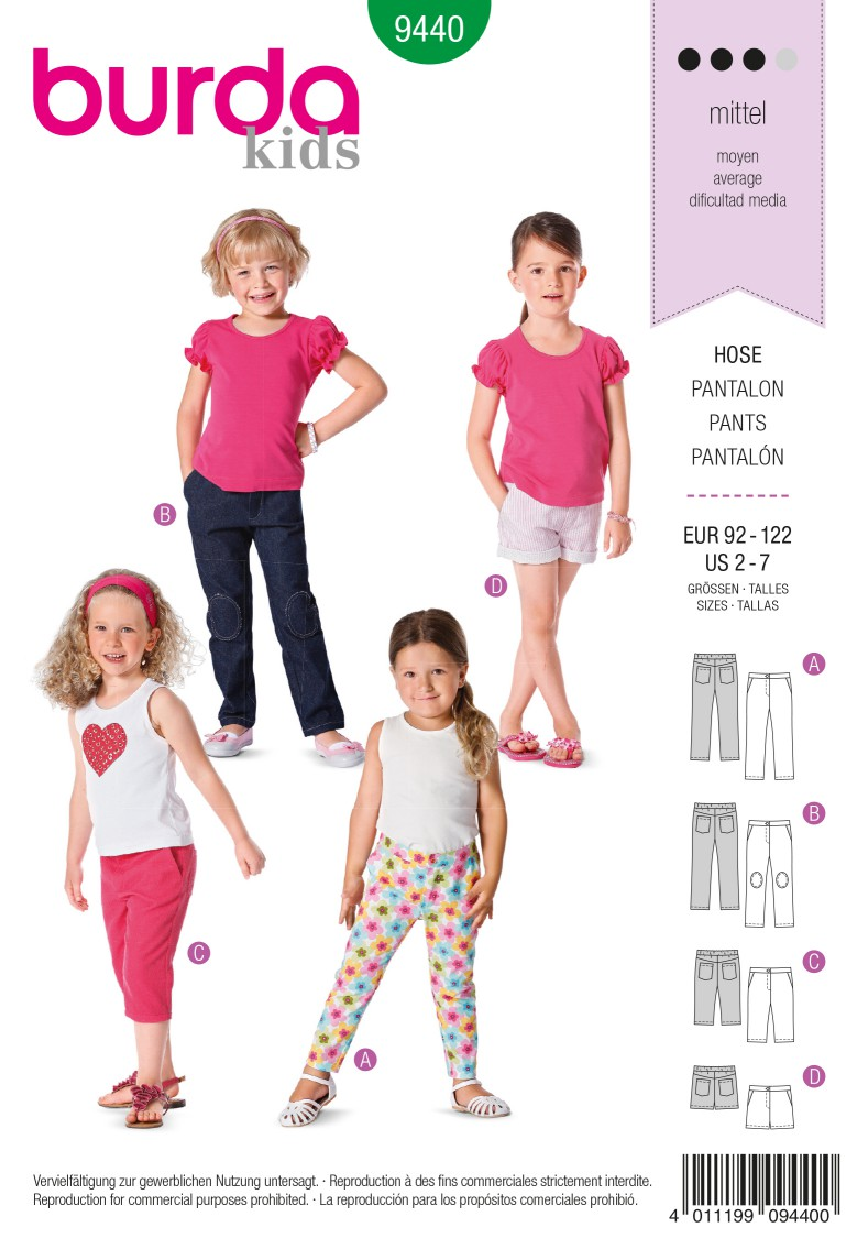 Burda B9440 Burda Style Toddlers Sewing Pattern