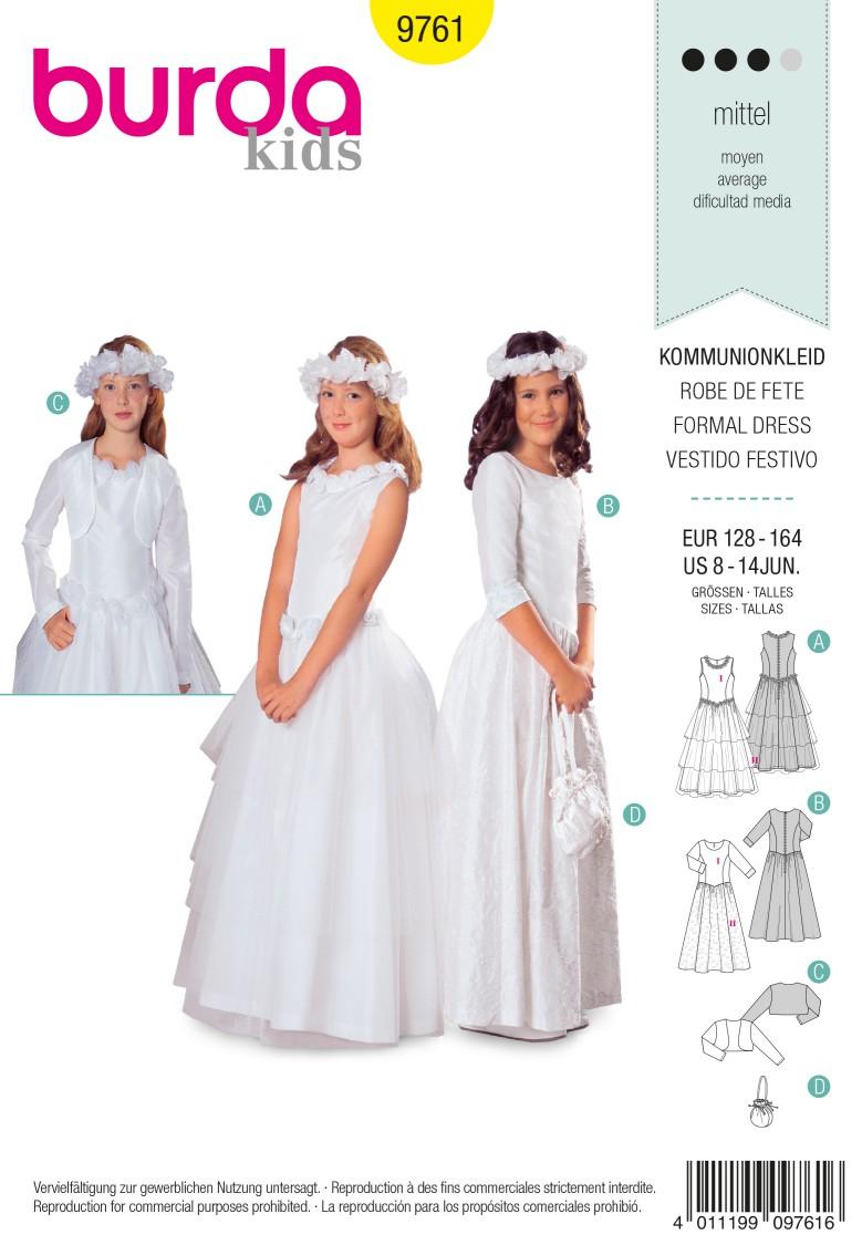 Burda B9761 Formal Dress Sewing Pattern