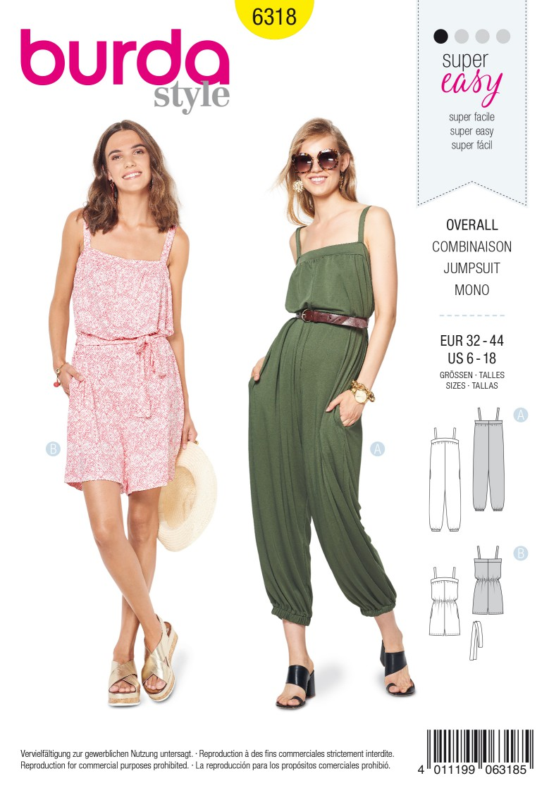 Burda Style Pattern 6318 Misses' jumpsuit