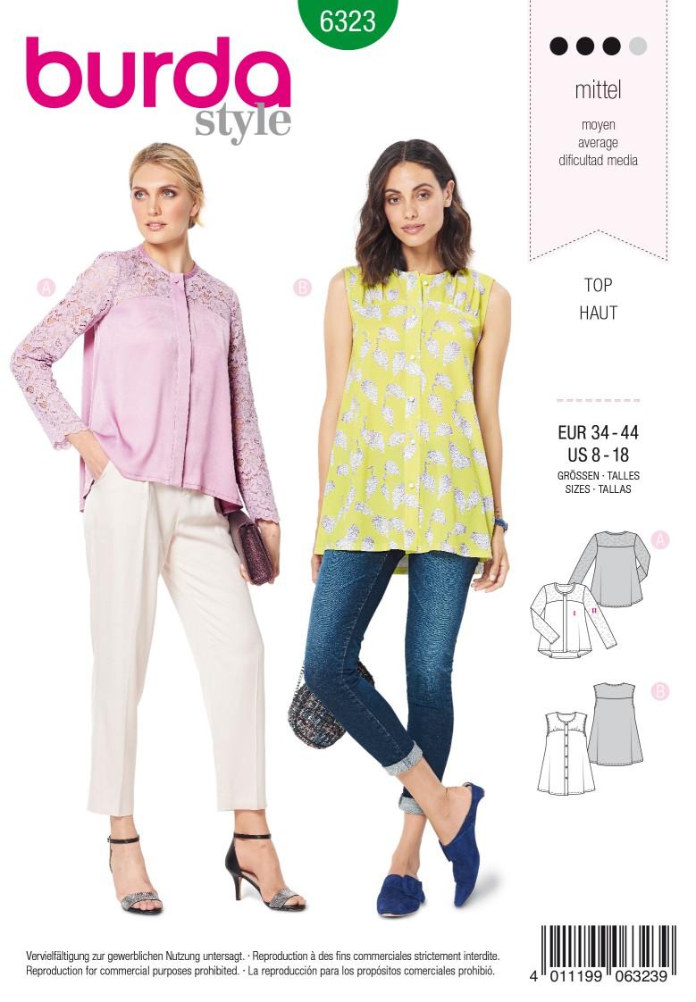 Burda Style Pattern 6323 Misses' blouse with yoke