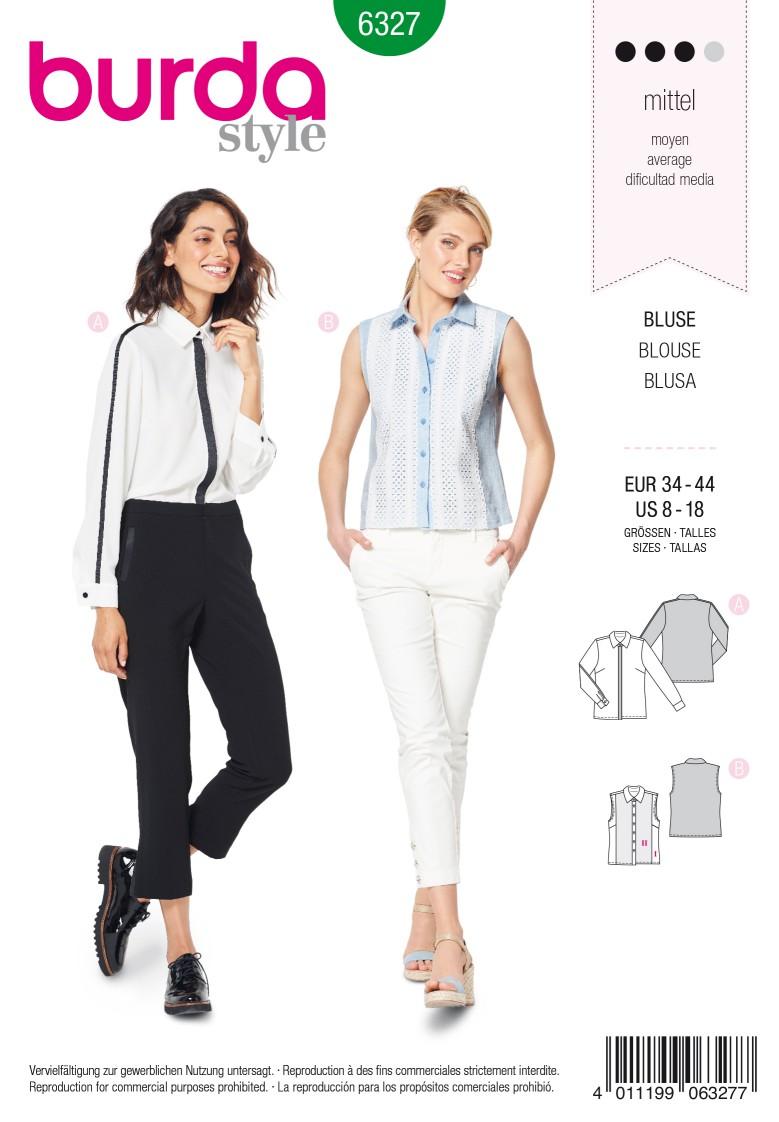 Burda Style Pattern 6327 Misses' shirt