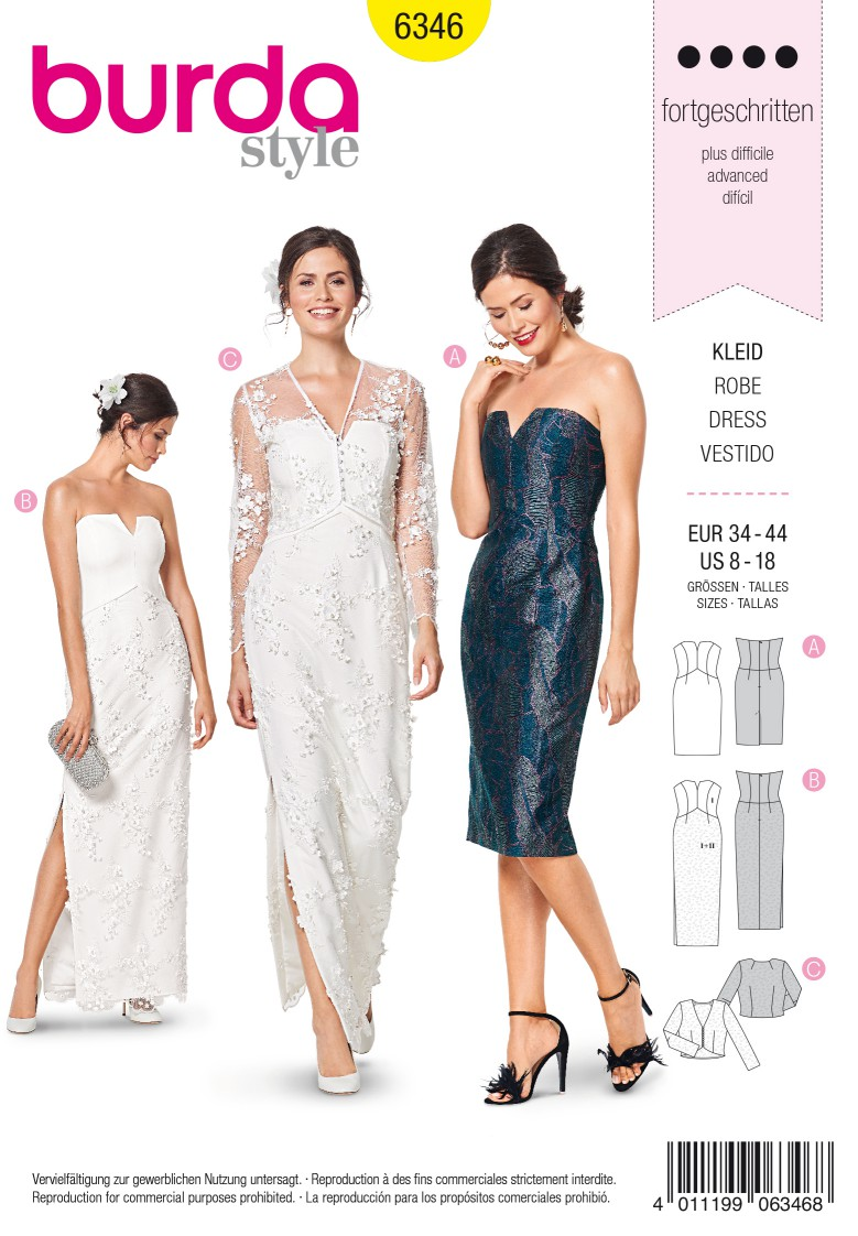 Burda Style Pattern 6346 Misses' special occasion dress