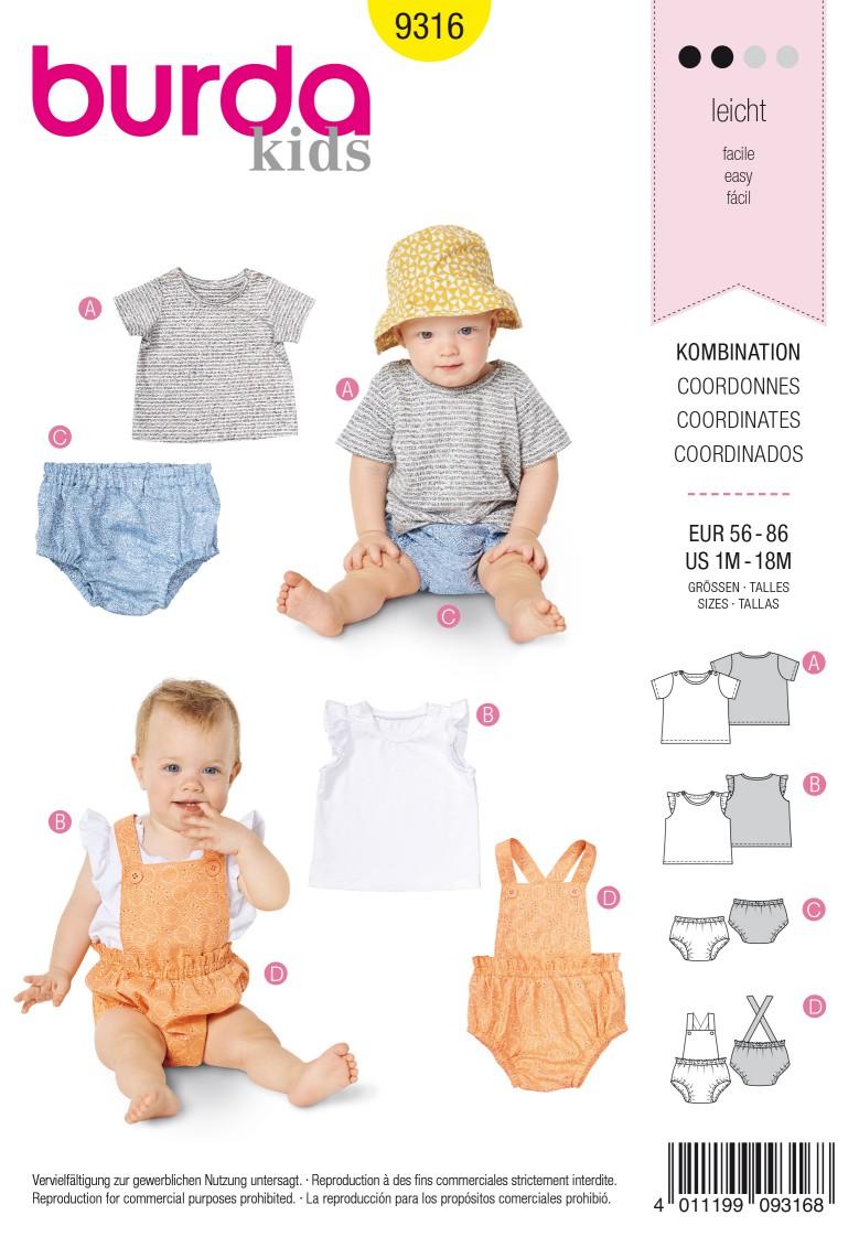 Burda Style Pattern 9316 Baby's sportswear