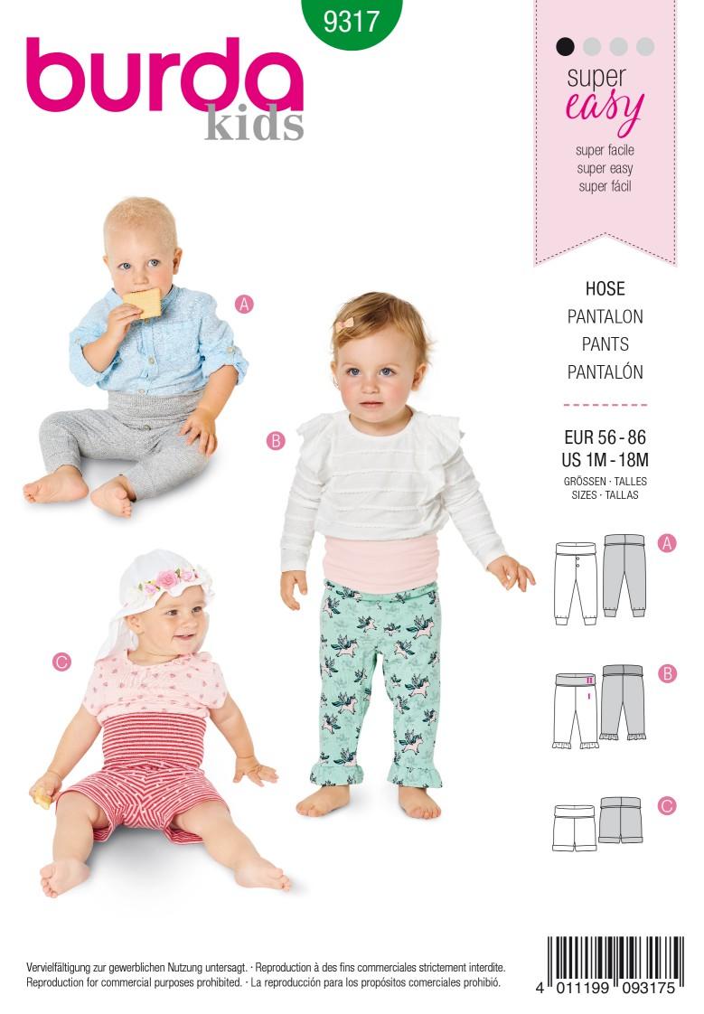 Burda Style Pattern 9317 Baby's pants