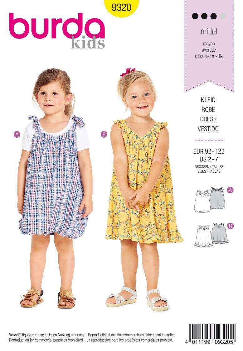 Burda Style Pattern 9320 Child's pinafore dress