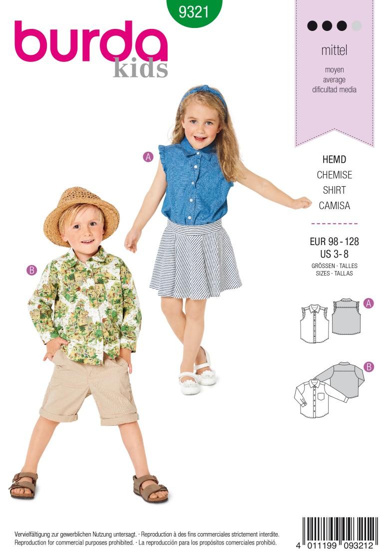 Burda Style Pattern 9321 Child's sleeveless top