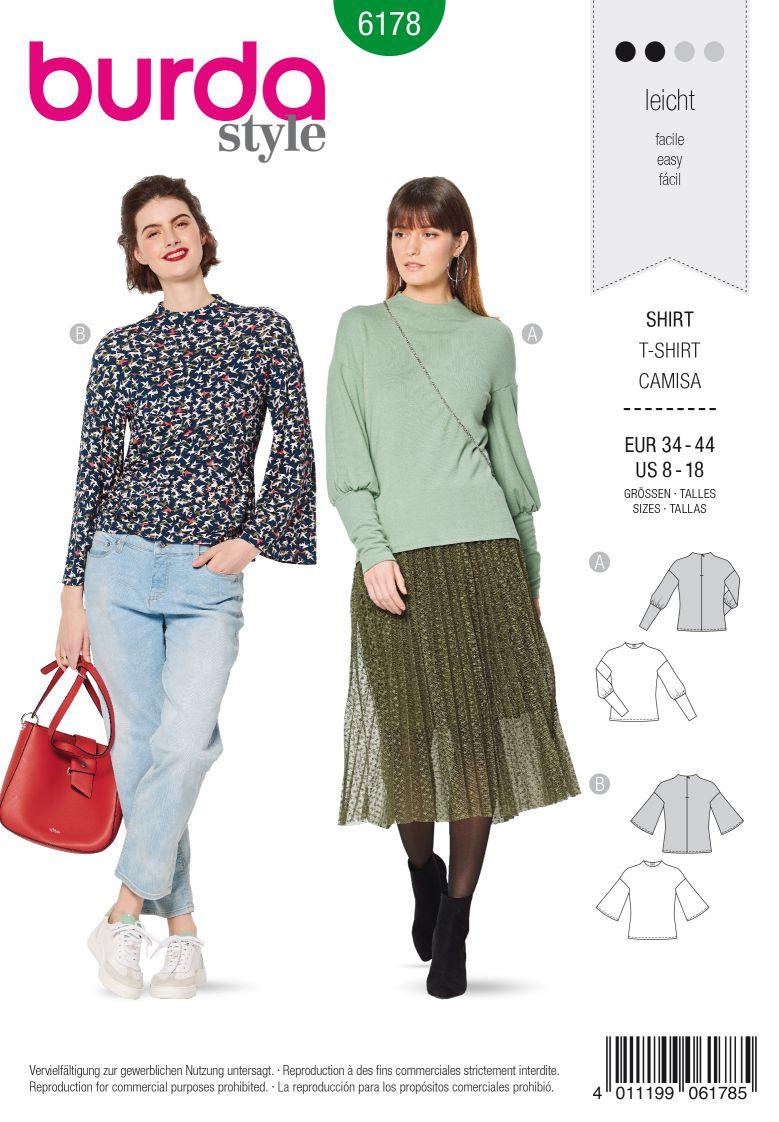 Burda 6178 AB Top – Low set sleeves