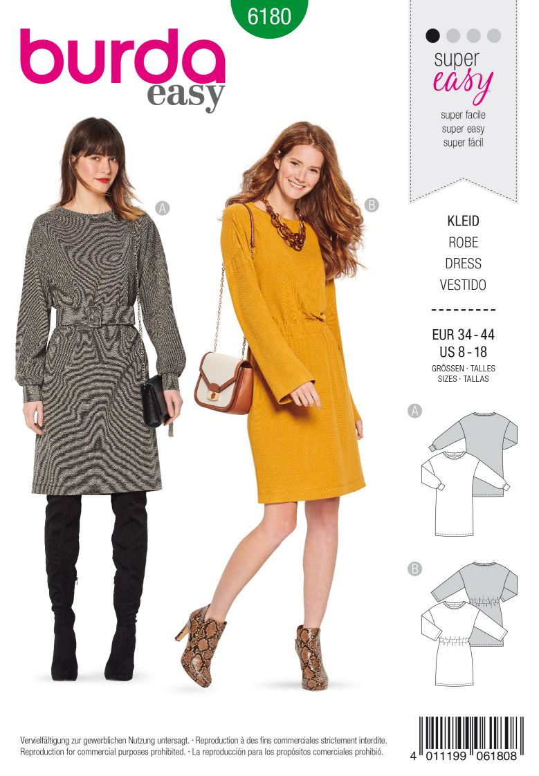 Burda 6180 AB Shirtdress – Overcut shoulders