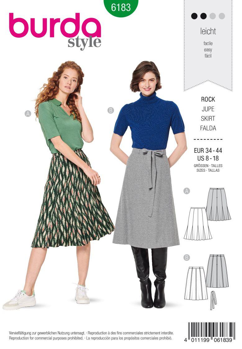 Burda 6183 AB 8-panel-skirt – Set in godets