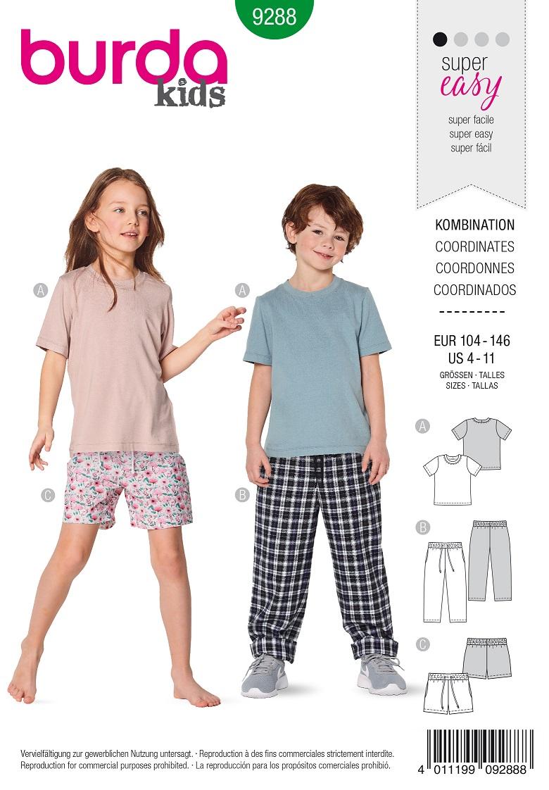 Burda 9288 A-C Top – Trousers/pants – Shorts