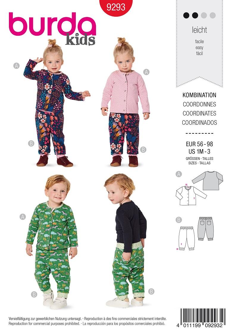 Burda 9293 AB Jacket – Trousers/pants – Reversible