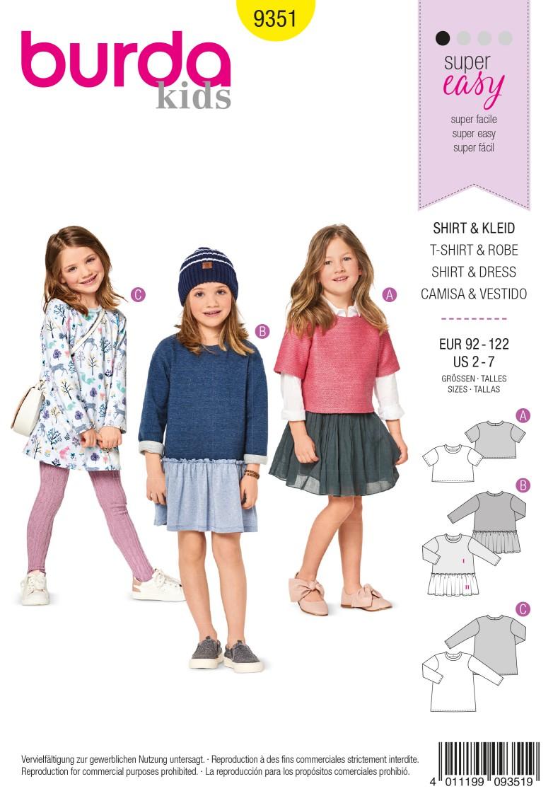 Burda 9351 Top – Dress – Shirt Dress