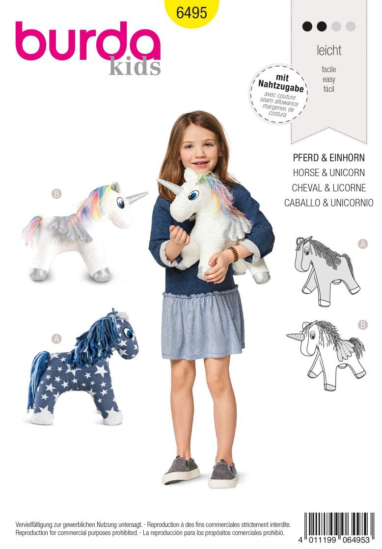 Burda 6495 Horse – Unicorn – Stuffed Animal