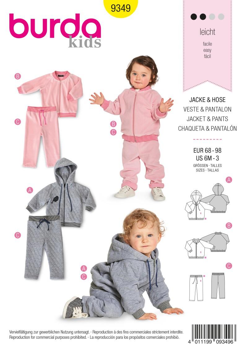 Burda 9349 Jacket – Blouson – Hood – Trousers/Pants – Elastic Waist