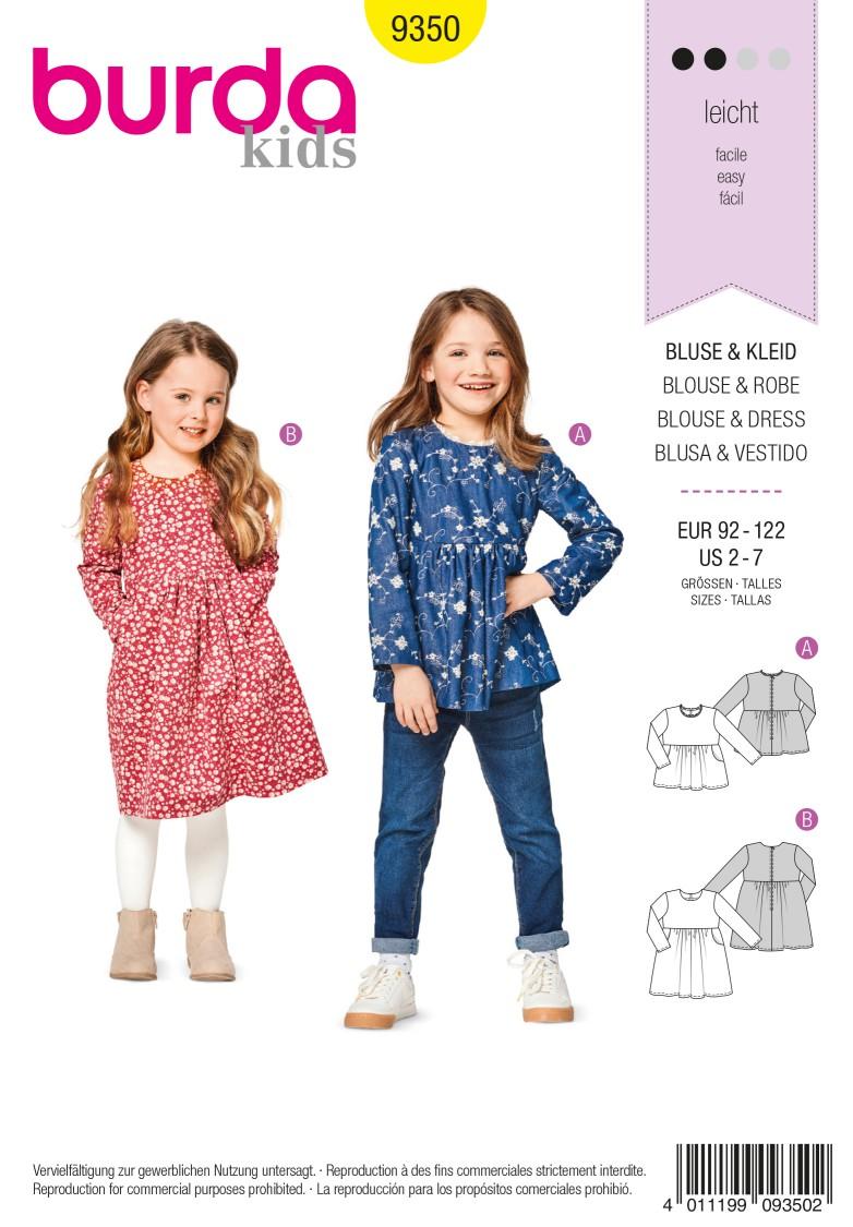 Burda 9350 Blouse – Dress – High Waist