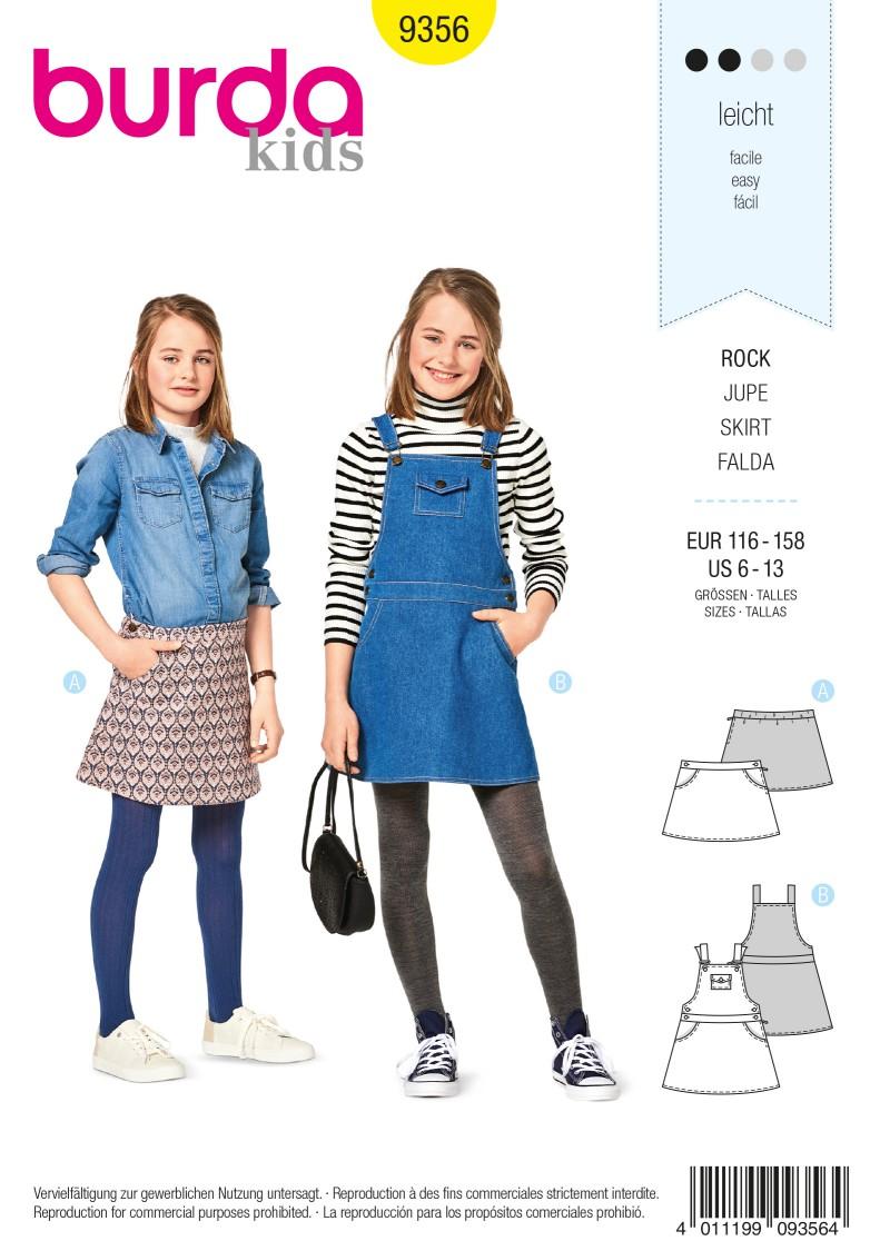 Burda 9356 Skirt – Bibbed Skirt – Hip Yoke Pockets