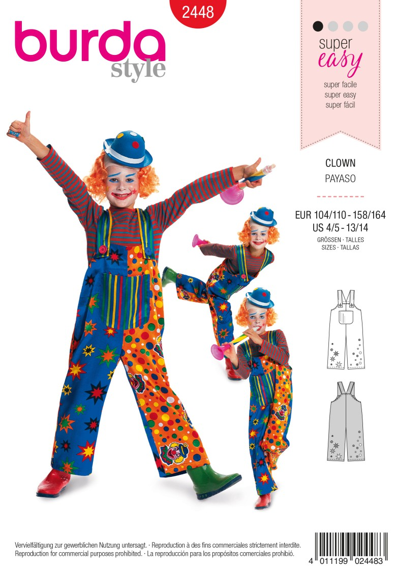 Burda 2448 Clown