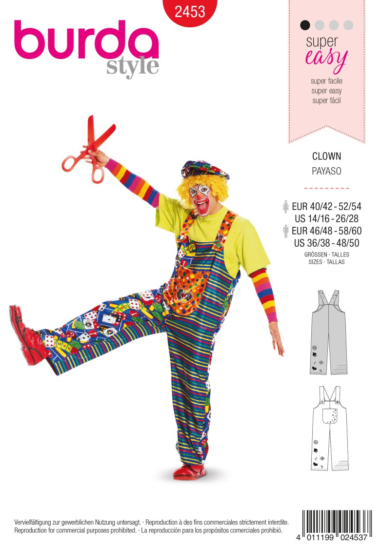 Burda 2453 Clown