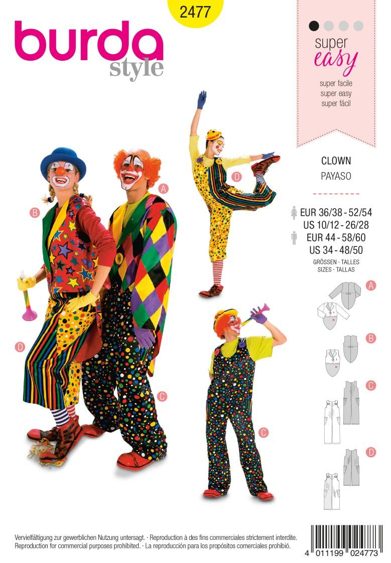 Burda 2477 Clown